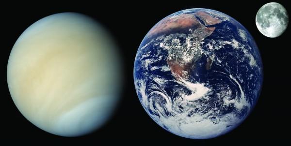 terra luna venere