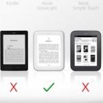 ebook reader illuminazione schermo