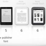 ebook reader stile caratteri