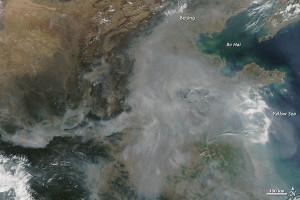 inquinamento cina aerosol satellite
