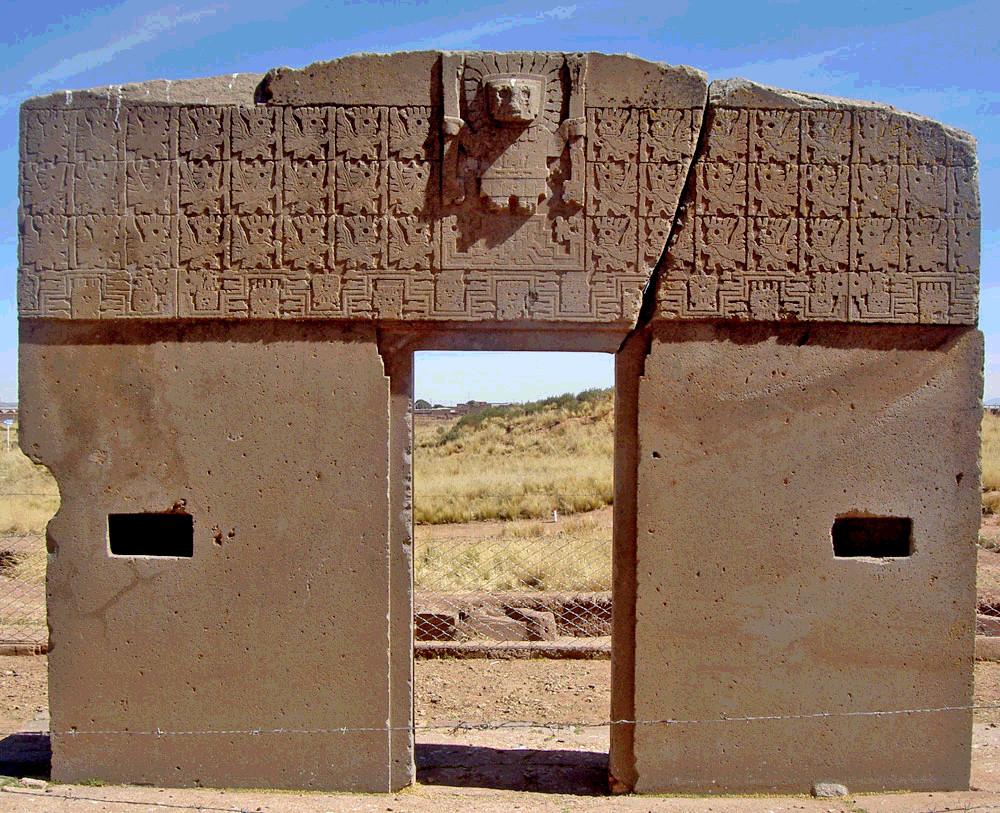 La puerta del sol di tiahuanaco - La porta del sole ...
