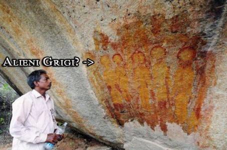pittura-rupestre-india-alieni-grigi-charama-Chhattisgarh